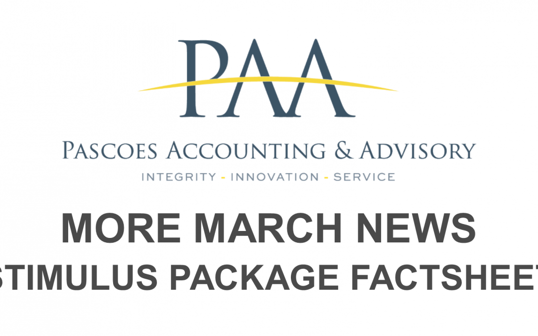 More March News – Stimulus Package Factsheet