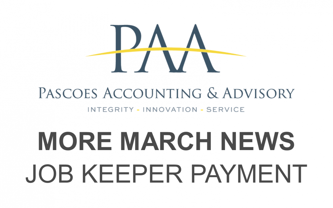 More March News – Job Keeper Payment